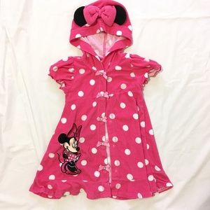Minnie Mouse beach cover up with hood by Disney